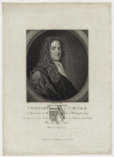 Charles Caesar of Gransden, published by Robert Wilkinson - NPG D30954