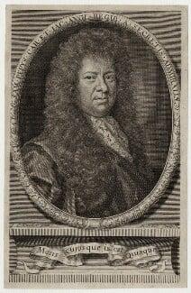 Samuel Pepys, by Robert White, after  Sir Godfrey Kneller, Bt, published 1690 - NPG D30958 - © National Portrait Gallery, London