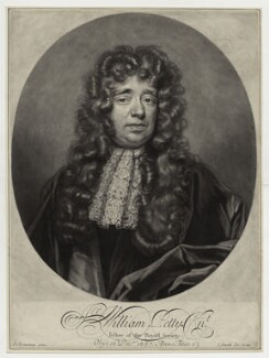 Sir William Petty, by and published by John Smith, after  John Closterman - NPG D30966