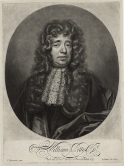 Sir William Petty, by and published by John Smith, after  John Closterman - NPG D30967