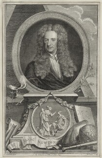 Sir Isaac Newton, by Jacobus Houbraken, after  Sir Godfrey Kneller, Bt, (1702) - NPG D30979 - © National Portrait Gallery, London