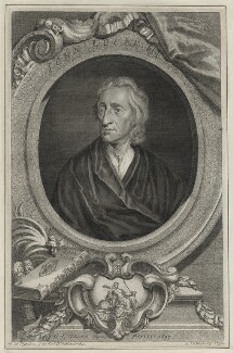 John Locke, by George Vertue, after  Sir Godfrey Kneller, Bt - NPG D30980