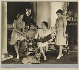Princess Margaret; King George VI; Queen Elizabeth, the Queen Mother; Queen Elizabeth II, by Dorothy Wilding - NPG x12137