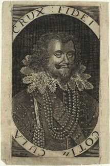 George Villiers, 1st Duke of Buckingham, by Walter Dolle, after  Michiel Jansz. van Miereveldt - NPG D33054