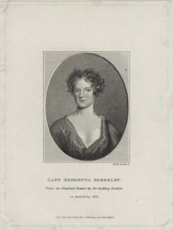 Lady Henrietta ('Harriett') Berkeley, by Henry Richard Cook, published by  Silvester (Sylvester) Harding, after  George Perfect Harding, after  Sir Godfrey Kneller, Bt - NPG D31000