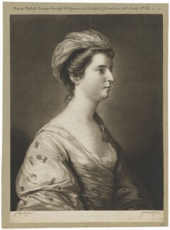 Maria (née Walpole), Duchess of Gloucester and Edinburgh, by James Macardell, after  Sir Joshua Reynolds, published 1 January 1762 (1760-1761) - NPG D33045 - © National Portrait Gallery, London