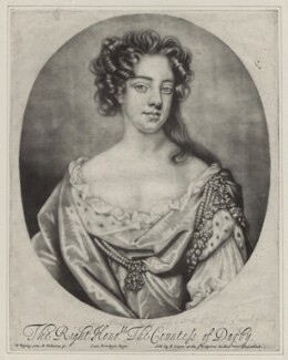 Elizabeth Stanley (née Butler), Countess of Derby, by Robert Williams, after  Willem Wissing, published by  Edward Cooper - NPG D31006