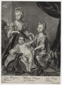 Lady Bridget Williams (née Osborne); Lord William Henry Osborne; Mary Cochrane (née Osborne), Countess of Dundonald, by and published by Robert Williams, after  Thomas Hill, after 1691 - NPG D31008 - © National Portrait Gallery, London