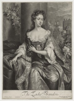 Anne Gerard (née Mason), Countess of Macclesfield when Viscountess Brandon, by John Smith, published by  Edward Cooper, after  Willem Wissing - NPG D31009