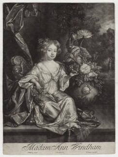 Anne Windham, by Isaac Beckett, after  Willem Wissing, published by  Edward Cooper - NPG D31012