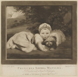 Princess Sophia Matilda of Gloucester, by and published by Thomas Watson, and published by  Walter Shropshire, after  Sir Joshua Reynolds - NPG D33047