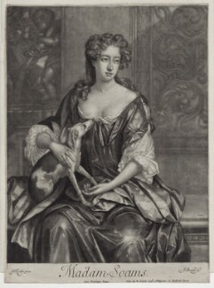 Joan Soame (née Shute), by Isaac Beckett, after  Sir Godfrey Kneller, Bt, published by  Edward Cooper - NPG D31020