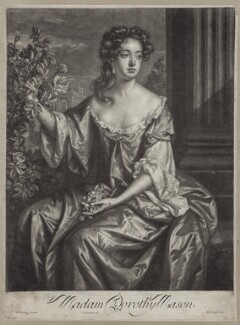 Dorothy Brownlow (née Mason), Lady Brownlow, by John Smith, published by  Edward Cooper, after  Willem Wissing - NPG D31021