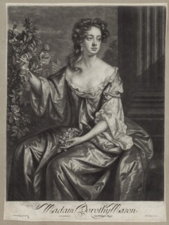 Dorothy Brownlow (née Mason), Lady Brownlow, by John Smith, published by  Edward Cooper, after  Willem Wissing - NPG D31022