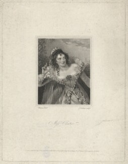 Eliza Chester as Beatrice in 'Much Ado About Nothing', by John Cochran, after  Alfred Edward Chalon, published 1825 - NPG  - © National Portrait Gallery, London
