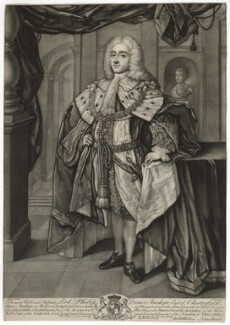 Philip Dormer Stanhope, 4th Earl of Chesterfield, by John Brooks, after  William Hoare - NPG D33065