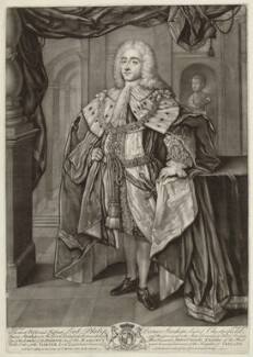 Philip Dormer Stanhope, 4th Earl of Chesterfield, by John Brooks, after  William Hoare - NPG D33066