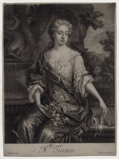 Diana Turnor (née Cecil), by Isaac Beckett, after  Sir Godfrey Kneller, Bt, published by  John Smith - NPG D31027