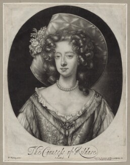 Elizabeth Fitzgerald (née Jones), Countess of Kildare, by John Smith, published by  Edward Cooper, after  Willem Wissing - NPG D31033
