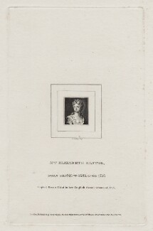 Elizabeth Elstob, by Burnet Reading, published by  Edward Evans - NPG D31035