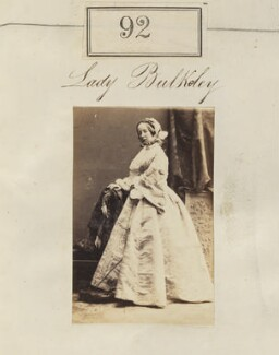 Maria Frances (née Massey-Standley), Lady Williams-Bulkeley, by Camille Silvy - NPG Ax50075