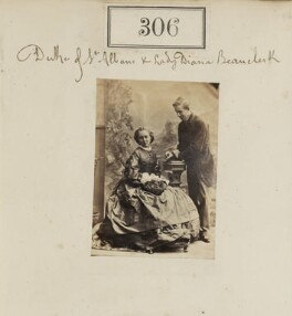 Diana de Vere (née Beauclerk), Lady Huddleston; William Amelius Aubrey de Vere Beauclerk, 10th Duke of St Albans, by Camille Silvy - NPG Ax50084