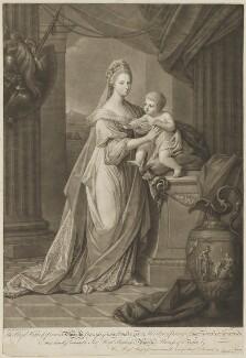 Princess Augusta Charlotte, Duchess of Brunswick-Wolfenbüttell; Prince Charles George Augustus of Brunswick-Wolfenbüttel, by Jonathan Spilsbury, after  Angelica Kauffmann - NPG D33048