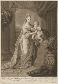 Princess Augusta Charlotte, Duchess of Brunswick-Wolfenbüttell; Prince Charles George Augustus of Brunswick-Wolfenbüttel, by Jonathan Spilsbury, after  Angelica Kauffmann, (1767) - NPG D33048 - © National Portrait Gallery, London
