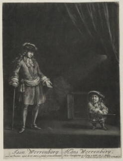 John Wormbergh and an unknown man, by Jacob Gole, after  Unknown artist - NPG D31041