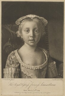 Princess Louisa Anne, by Richard Houston, published by  Samuel Okey, after  Jean Etienne Liotard - NPG D33051