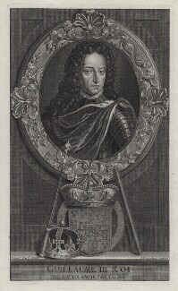 King William III, by Étienne Jehandier Desrochers, after  Adriaen van der Werff - NPG D31051