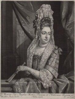 Queen Mary II, published by Nicolaes Visscher II, after  Jan van der Vaart - NPG D31057