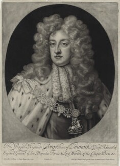 Prince George of Denmark, Duke of Cumberland, by and published by John Smith, after  Sir Godfrey Kneller, Bt, circa 1683-1729 - NPG D31059 - © National Portrait Gallery, London