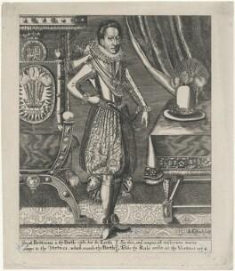King Charles I, by Renold or Reginold Elstrack (Elstracke), after  Unknown artist - NPG D9248