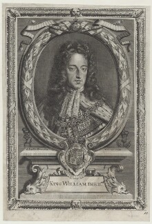 King William III, by Antoine Trouvain, after  Sir Godfrey Kneller, Bt - NPG D31064