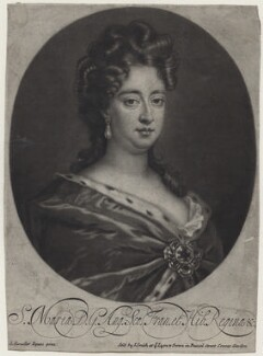 Queen Mary II, sold by John Smith, after  Sir Godfrey Kneller, Bt - NPG D31066
