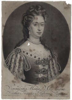 Queen Mary II, by and published by John Smith, after  Sir Godfrey Kneller, Bt - NPG D31069