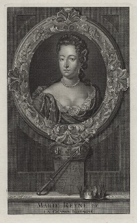 Queen Mary II, by Étienne Jehandier Desrochers, after  Jan van der Vaart - NPG D31070