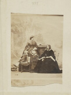 Lady Corisande Olivia Bennet; Olivia (née Montagu), Countess of Tankerville; Jane Loftus (née Hope-Vere), Marchioness of Ely, by Camille Silvy - NPG Ax50137