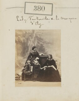 Lady Corisande Olivia Bennet; Olivia (née Montagu), Countess of Tankerville; Jane Loftus (née Hope-Vere), Marchioness of Ely, by Camille Silvy - NPG Ax50138