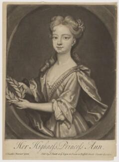 Anne, Princess Royal and Princess of Orange, by John Smith, after  Sir Godfrey Kneller, Bt, 1720 - NPG D9251 - © National Portrait Gallery, London