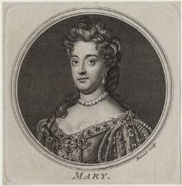 Queen Mary II, by Simon François Ravenet, after  Sir Godfrey Kneller, Bt - NPG D31076