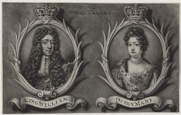 King William III and Queen Mary II, by Bernard Lens (II), published by  Edward Cooper - NPG D31079