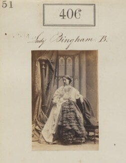 Cecilia Catherine Bingham (née Gordon-Lennox), Countess of Lucan, by Camille Silvy - NPG Ax50156