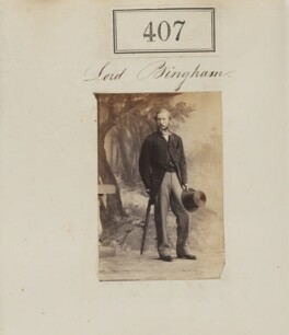 Charles George Bingham, 4h Earl of Lucan, by Camille Silvy, 1860 - NPG Ax50157 - © National Portrait Gallery, London