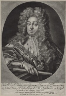 Prince George of Denmark, Duke of Cumberland, by Pieter Schenck, after  Sir Godfrey Kneller, Bt - NPG D31082