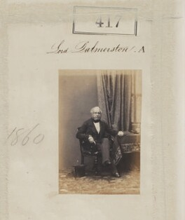 Henry John Temple, 3rd Viscount Palmerston, by Camille Silvy - NPG Ax50164