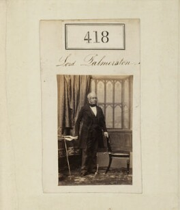 Henry John Temple, 3rd Viscount Palmerston, by Camille Silvy - NPG Ax50165