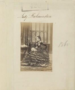 Emily Mary ('Amelia') (née Lamb), Viscountess Palmerston, by Camille Silvy - NPG Ax50167