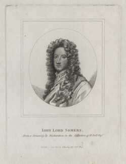 John Somers, Baron Somers, published by Silvester (Sylvester) Harding, after  Unknown artist - NPG D31099